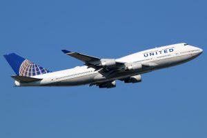 United Airlines aeroplane