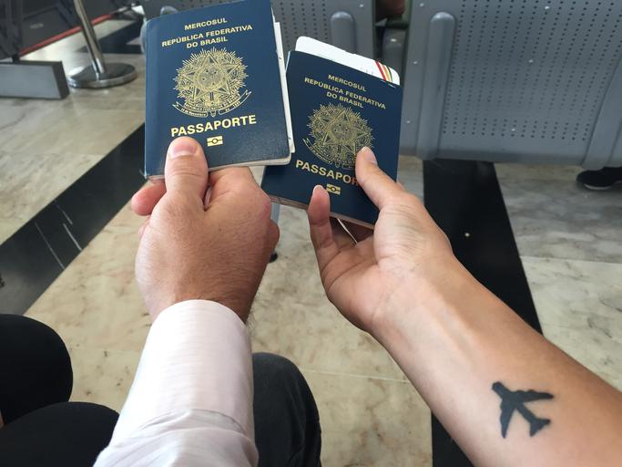 Documentos obrigatórios para viagens em aeronaves - passaporte brasileiro